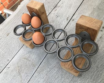Cast iron egg rack - free stading