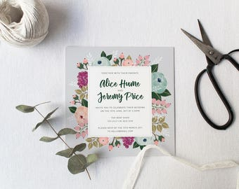 DIY Printable Pastel Floral Wedding Invitation | Details | RSVP | Save the Date + More Available on Request