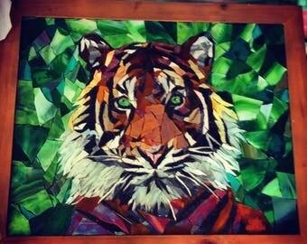 Mosaic Bengal Tiger