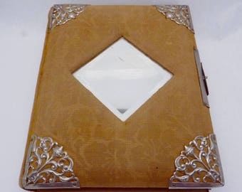Antique 1800s Photograph Album Mirror Cabinet Card CDVs 23080