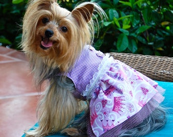 25% Off Selected Summer Dog Dresses On Sale!  Choose from Five Adorable Dog Dresses XS-M.