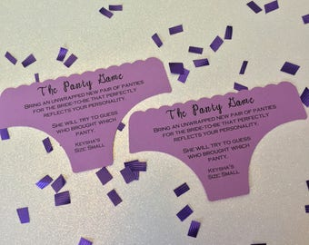 The Panty Game Invitation Insert, Bachelorette Party Panty Game, Lingerie Party