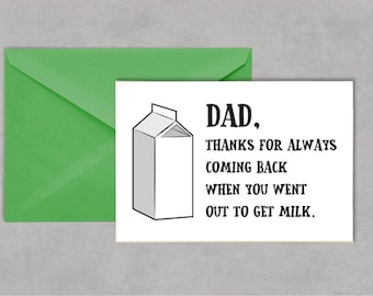 Funny Out To Get Milk Father's Day Card