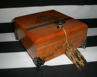 Perdomo Cigar Box Valet, Watch Box, Stash Box, Guy Gift, Tampa, Authentic