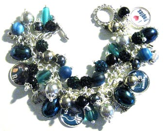 Philadelphia Eagles,  2017 NFL Champions,  Beaded Charm Bracelet, Fan Favorite
