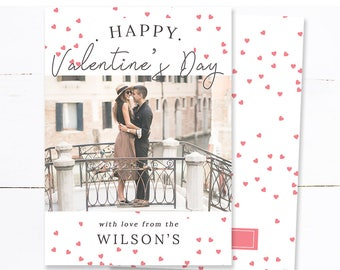 Valentines Day Card For Couple, Instant Download Valentine's Cards, Happy Valentines Day Card Printable, Photography Templates, m200v