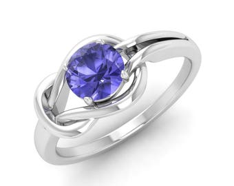 Tanzanite Ring, 14K White Gold, Natural Tanzanite, Tanzanite Engagement Ring, Anniversary Ring, Wedding Ring, Promise Ring, Solitaire Ring
