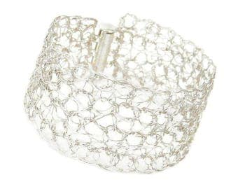 Cuff bracelet silver plated made in France