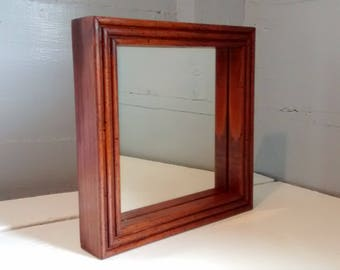 Mirror, Small, Square Mirror, Framed Mirror, Wall Mirror, Accent Mirror, Entrance Mirror, Vintage, Home Decor, RhymeswithDaughter