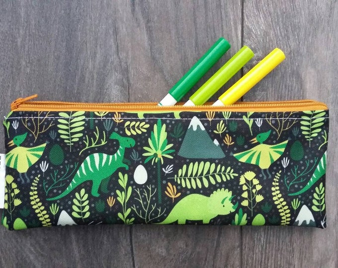 Wipe clean Dinosaurs and Volcanoes pencil case