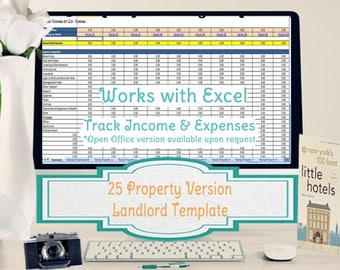 25 Property Tracking – Expense and Rental Income Tracking Template