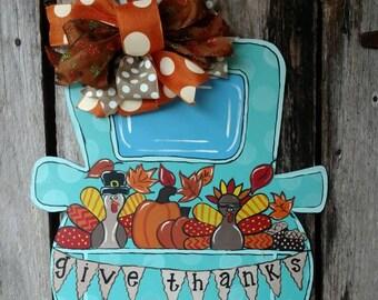 Fall Truck Door Hanger, Fall door hanger, pumpkin door hanger