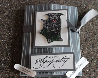 Stampin Up/Dragonflylaser Homemade Greeting Card With Sympathy Chunky Monkey 6913