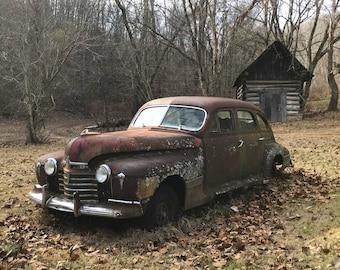 "1941 Oldsmobile - PRINT - 14"" x 11"" FREE SHIPPING!"