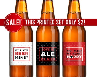 Valentines Beer Labels Valentines Gift For Him Gift For   Valentines Day  Beer