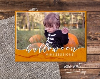 Halloween Mini/Photo Session Template for Photographers 7x5