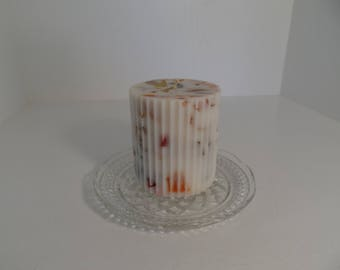 Multicolored Scented Pillar Candle