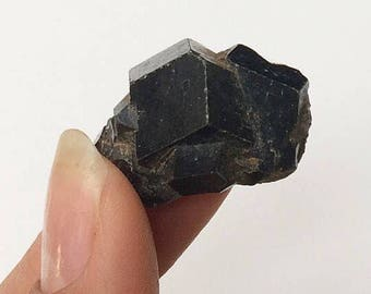 Andradite Garnet Brown Rhombic Dodecahedral Raw Unpolished Garnet Cluster Healing Crystal Rocks and Minerals Mali