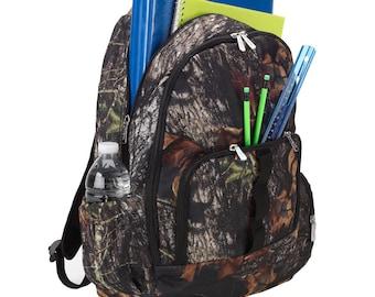 Monogrammed Backpack Camoflauge Bookbag Personalized Back Pack Book Bag Boys Backpack