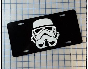 Star Wars Stormtrooper Helmet Custom License Plate