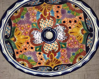 Beautiful Mexican Talavera Sink - Free Shipping