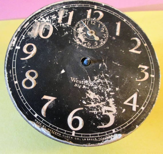 """Old and Worn Partial Vintage 4 1/2"""" Westclox Big Ben Alarm Clock for Repairs - Steampunk Art - Crafts"""