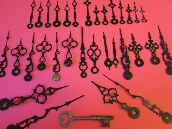 16 Pairs of New and Vintage Mixed Metals Clock Hands for your Clock Projects, Jewelry Making, Steampunk Art and Etc.