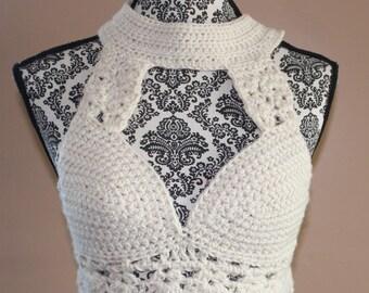 Crochet Cream Top