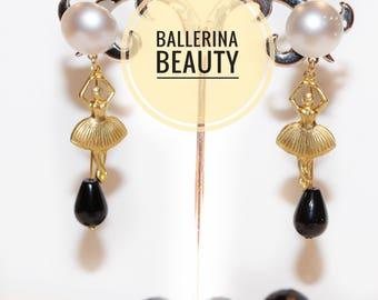 """Lengthh """"ballerina"""" earrings"""