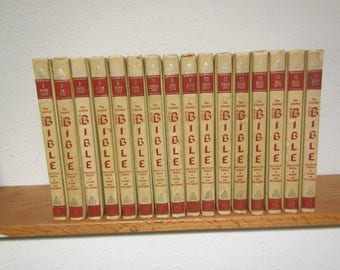 1968 The Living Bible Encyclopedia Complete 16 volume set A thru Z , In Story and Pictures