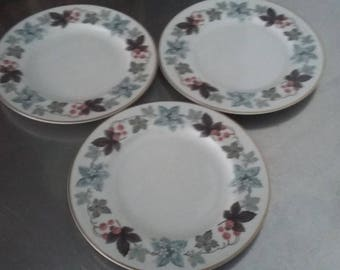 3 Royal Doulton 'Camelot' Tea Side Cake Plate Plates 167 mm