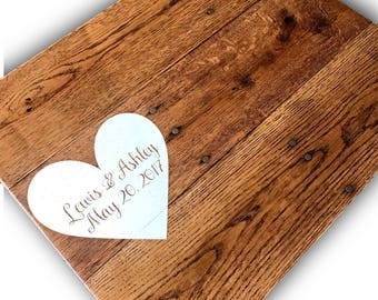 Wedding Guest Book Alternative wooden Sign rustic country wedding decor 14x18