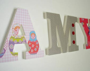 Name - Wooden - AMY - letters in wood - AMY
