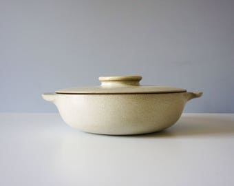 Vintage Early and Rare Edith Heath Ceramics Large Winged Casserole Dish, MCM decor, Modern Pottery