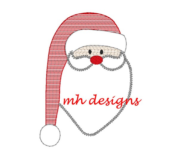 Santa claus vintage embroidery design stitch