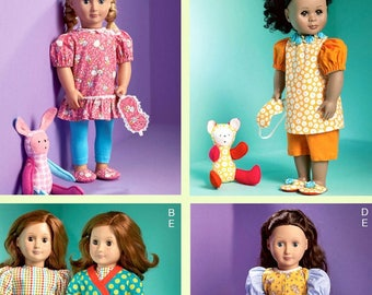 McCalls 6717- Sewing pattern for 18 Inch Doll Clothes- Fits American Girl Dolls