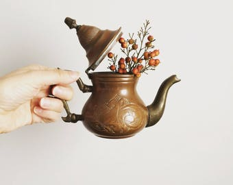 Antique copper coffee pot bohemian home decor turkish coffee pot