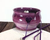Berry Colored Yarn bowl, ...