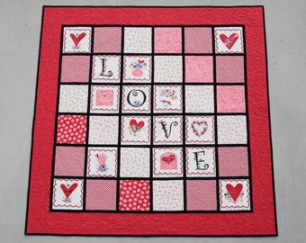 LOVE lap quilt or wall hanging