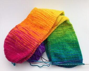Rainbow Gradient Self-Striping Sock Yarn