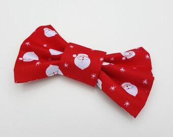Dog Bowtie - Christmas Red Santa /  Father Christmas