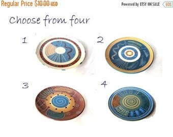 SummerSale Pottery handmade. Decorative plates. Ceramic plates. Pottery plates. Ceramic trinket dish. Farmhouse pottery. Trinket plates. Blu