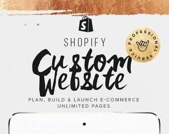 Custom Shopify E-Commerce Website Design, Custom Website Design, Online Store Business Web Design, Responsive Website Template