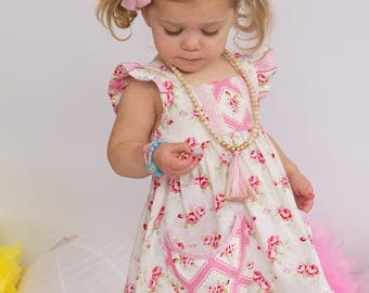 Rose Blossom Spring Summer Dress