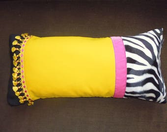 PILLOWS with yellow and Zebra yellow trimmings