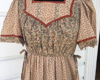 Adorable Candi Jones boho hippie midi dress. Vintage 9.