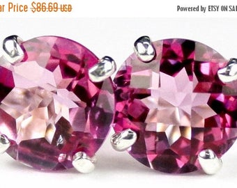 On Sale, 20% Off, Pure Pink Topaz, 925 Sterling Silver Post Earrings, SE112