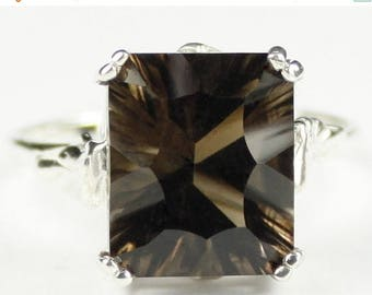 On Sale, 30% Off, Smoky Quartz , 925 Sterling Silver Ring, SR188