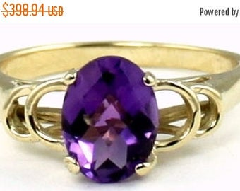 On Sale, 30% Off, Amethyst, 14KY Gold Ring, R300