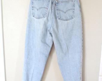 vintage 1980's high rise  levis 521 mom  jeans denim 30 32